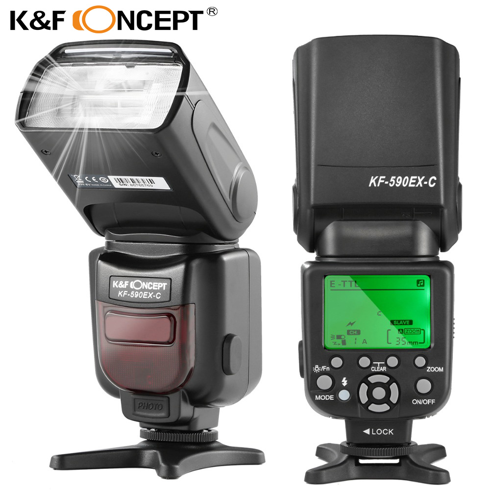 K&F CONCEPT Flash Speedlite Professional Wireless TTL Slave GN56 S1/S2 2.9s Fast Recycle KF590EX for Nikon Canon EOS PK Yongnuo колесные диски replica concept sk515 6 5x16 5x112 d57 1 et50 s