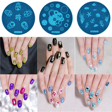 1 nail stamping plate leopard plaid art stamp template 3D fashion pattern polish printing beauty mold tool
