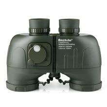 boshile 10X50 binoculars Waterproof Nitrogen telescope big Rangefinder compass powerful Professional Military hunting HD Marine все цены