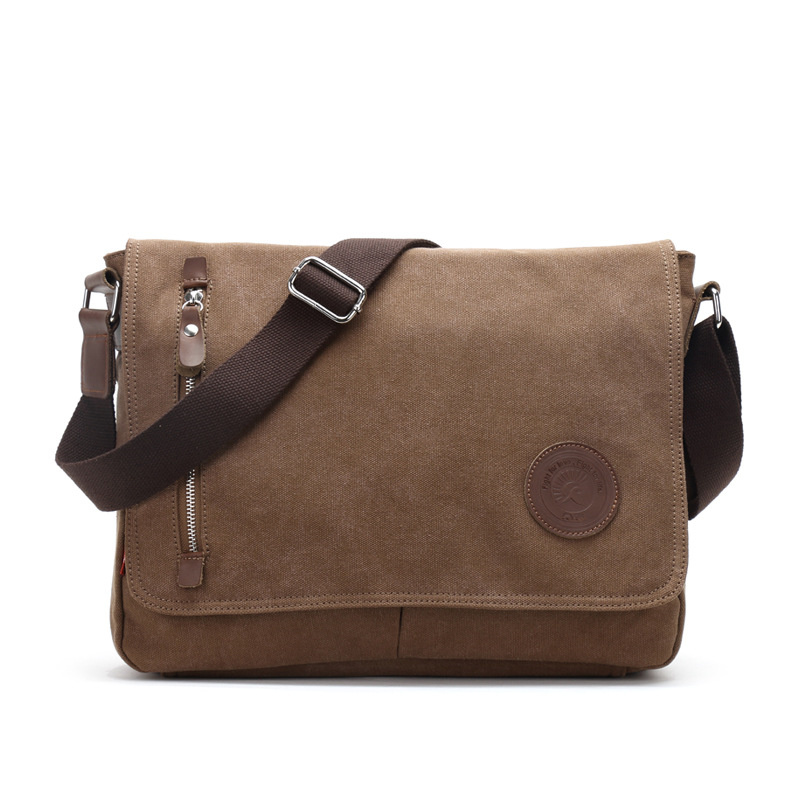 все цены на New Men's Vintage Messenger Bags Canvas Satchel School Casual Shoulder Bag Boy's Travel Handbag Business Crossbody Bag reistas