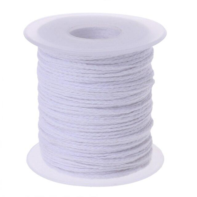 61 M Áo thun Cotton Nến Bấc Core Cuộn Dây Không khói DIY Đèn Dầu Nến Tiếp Liệu nến làm bấc