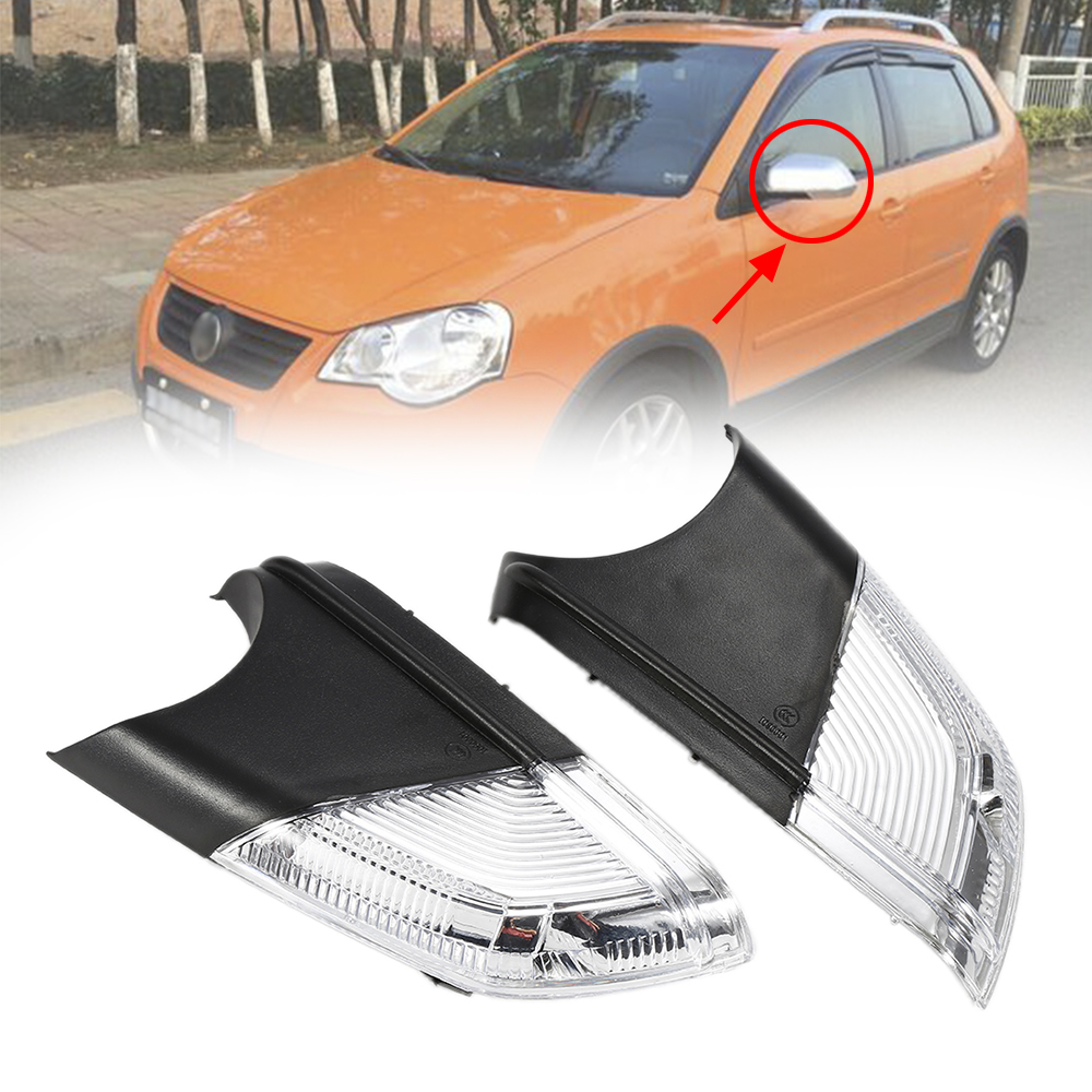 2PCs Fits for VW Polo MK4 FL 2005 2006 2007 2008 2009 Right Left Side View Mirror Turn Signal Side Rear Mirror Lights free shipping for skoda octavia sedan a5 2005 2006 2007 2008 right side rear lamp tail light