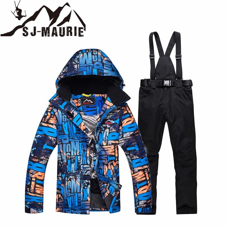 SJ-MAURIE Snowboard Ski costume femmes veste de Ski + pantalon en plein air hiver imperméable coupe-vent neige costumes randonnée Ski veste - 6