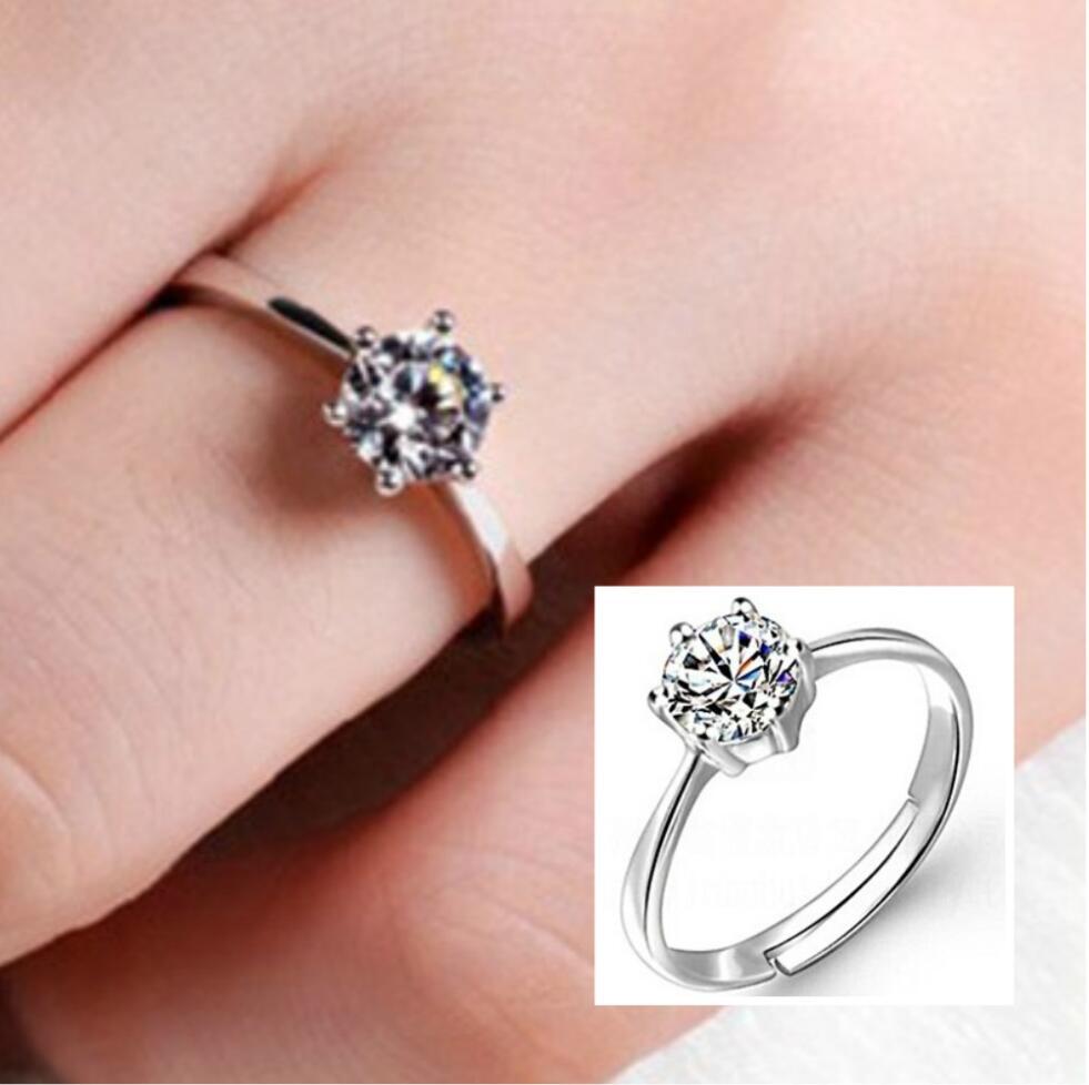 Aliexpress.com : Buy Opening classic six claw ring wedding ring ...