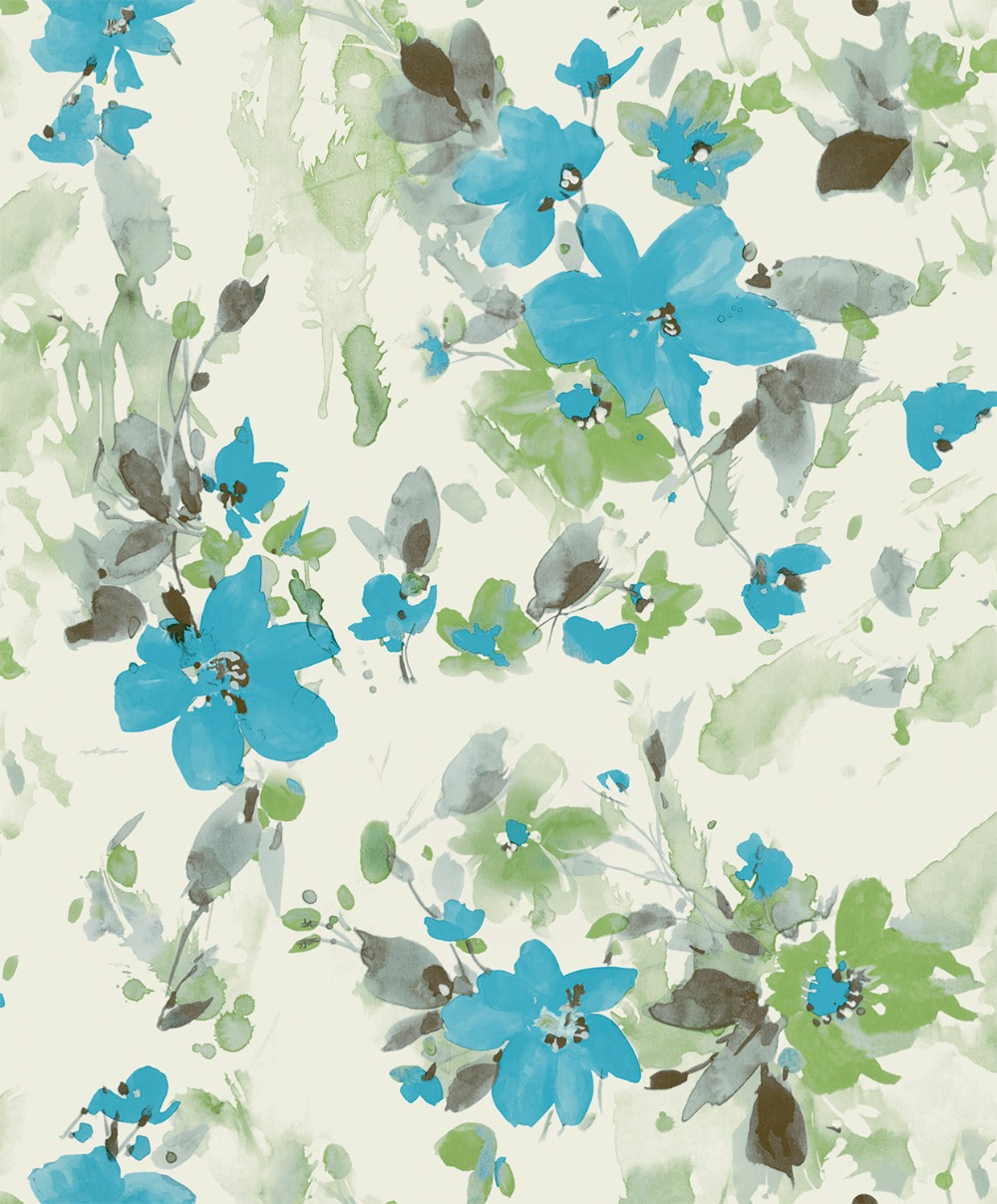 Spring Flowers PVC Mural background Wallpaper  Roll  papel de parede floral