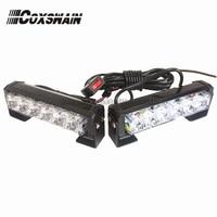 2X6 LED Car Warning Strobe Flash Emergency Light EMS Police 12W Warning Light 13 Modes Day
