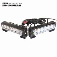2X6 LED Car Warning Strobe Flash emergency light EMS Police 12W warning Light, 13 Modes Day Running Light DRL (CS 6 2)