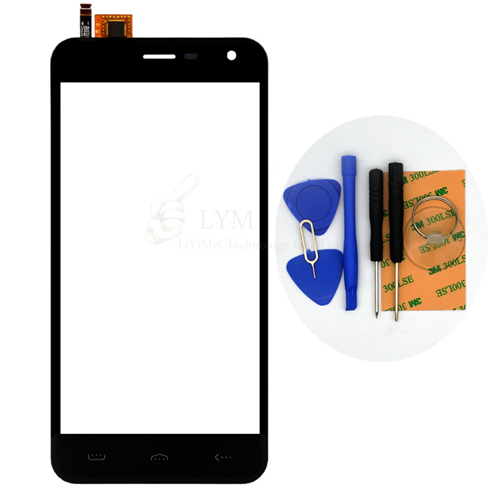 Black TP for Homtom HT3 5 0 Touch Screen Digitizer Front Glass Panel Sensor Replacement Part