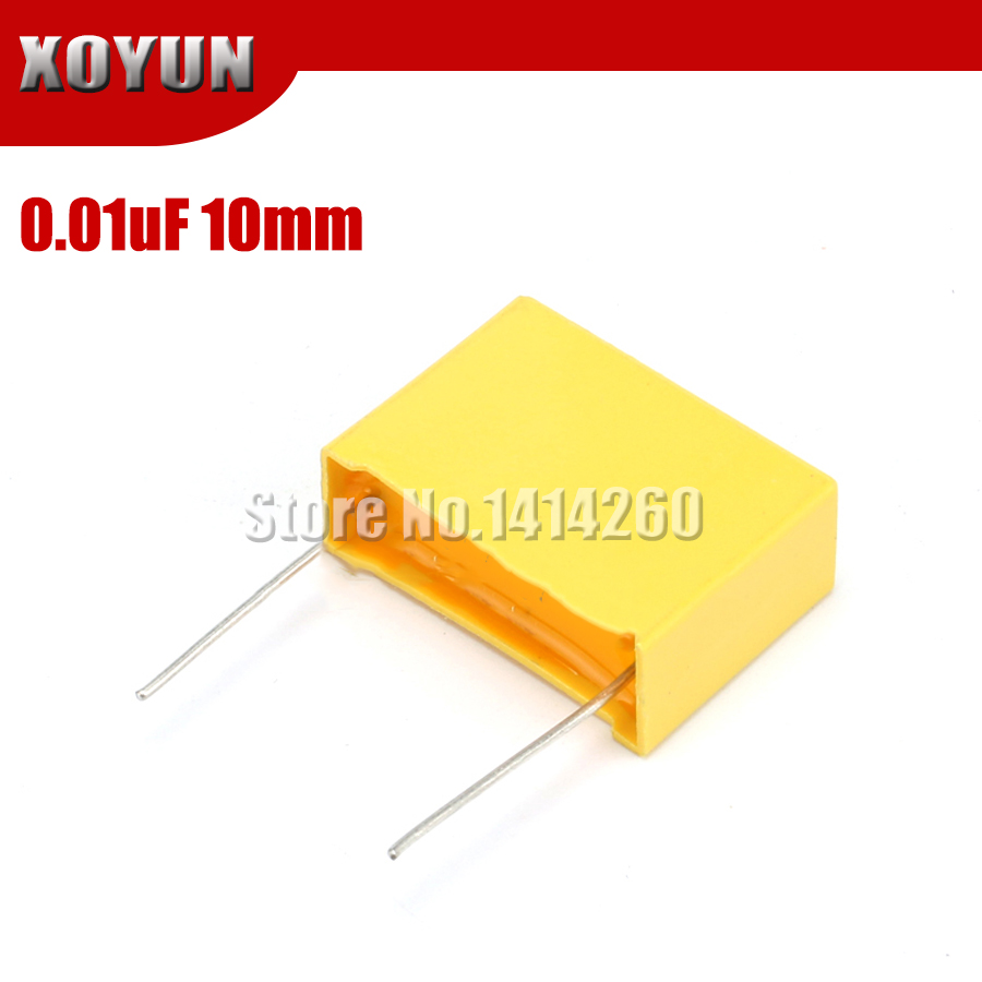 20pcs 0.01uF Capacitor X2 Capacitor 275VAC Pitch 10mm X2 Polypropylene Film Capacitor 10NF