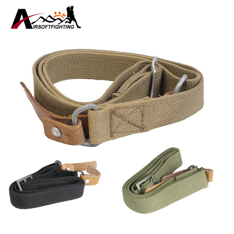 Airsoft Caça AK Rifle Sling Único Ponto Gun Belt Tactical Ajustável Heavy Duty Carrying Rifle Gun Strap