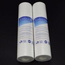 PPF خرطوشة مرشح قطن ل منقي مياه 2 قطعة من 10 بوصة PP القطن 0.5 ميكرون خرطوشة تصفية الرواسب