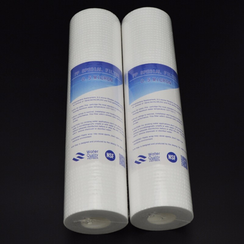 PPF cotton filter cartridge for Water Purifier 2pcs of 10inch PP Cotton 0.5 Micron Sediment Filter Cartridge цена и фото