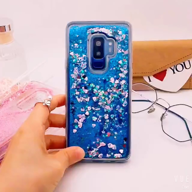for Samsung Galaxy S9 case Back cover Bling Glitter Dynamic Quicksand Liquid Case for samsung S9 plus cover Galaxy S9 coque (3)
