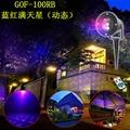 Red Blue Laser Waterproof Lawn Lamp + Remote Control Dynamic Sky Star Ground Lamp Outdoor Waterproof Lamp Christmas Tree Lamp