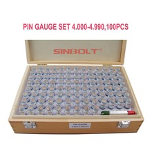 Sinbolt pin gauge /Plug Gauge Set,4.000mm--4.990mm,100pcs+Pin Handle,fast delivery!