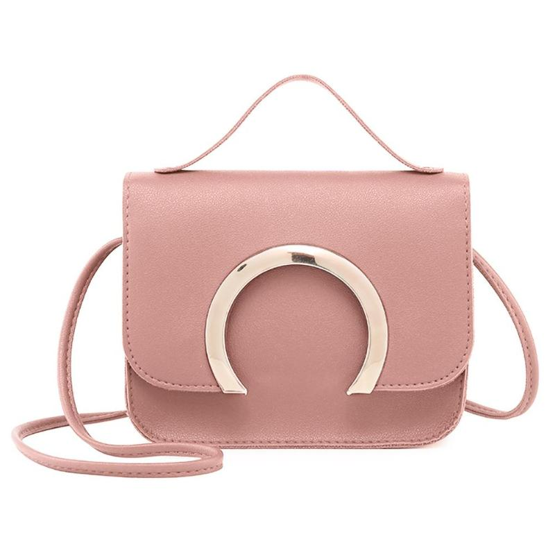 2019 Small Leather Flap Shoulder Messenger Handbags Women Casual Crossbody Bags New Female Handbags Chic Ladies Clutch in Shoulder Bags from Luggage Bags