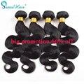 Barato brasileira onda do corpo do cabelo virgem extensões de cabelo humano 4 bundles lot 100g/3.5 oz/pc cabelo tece aliexpress reino unido panse hair