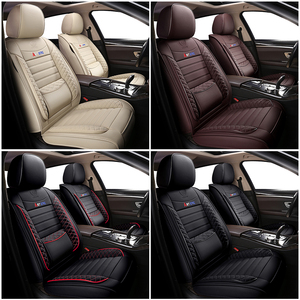 Image 5 - KADULEE Leather car seat cover for mitsubishi pajero 4 2 sport outlander xl asx accessories lancer covers for vehicle seats auto