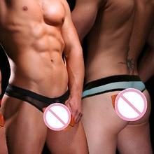 Men's Underwear WJ Transparent U Convex Design G-Strings T Thong 2003-4DK