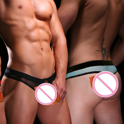 Men s Underwear WJ Transparent U Convex Design G Strings T Thong 2003 4DK