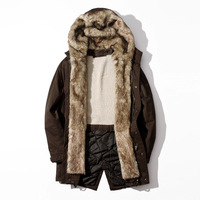 thick warm coat padded hooded brand clothing jackets men jacket top quality fur collar new design winter coat Male