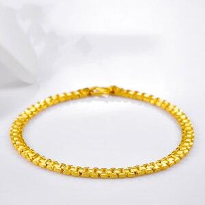 Image 3 - 24K saf altın bilezik gerçek 999 katı altın bileklik lüks güzel romantik moda klasik takı sıcak satış yeni 2020
