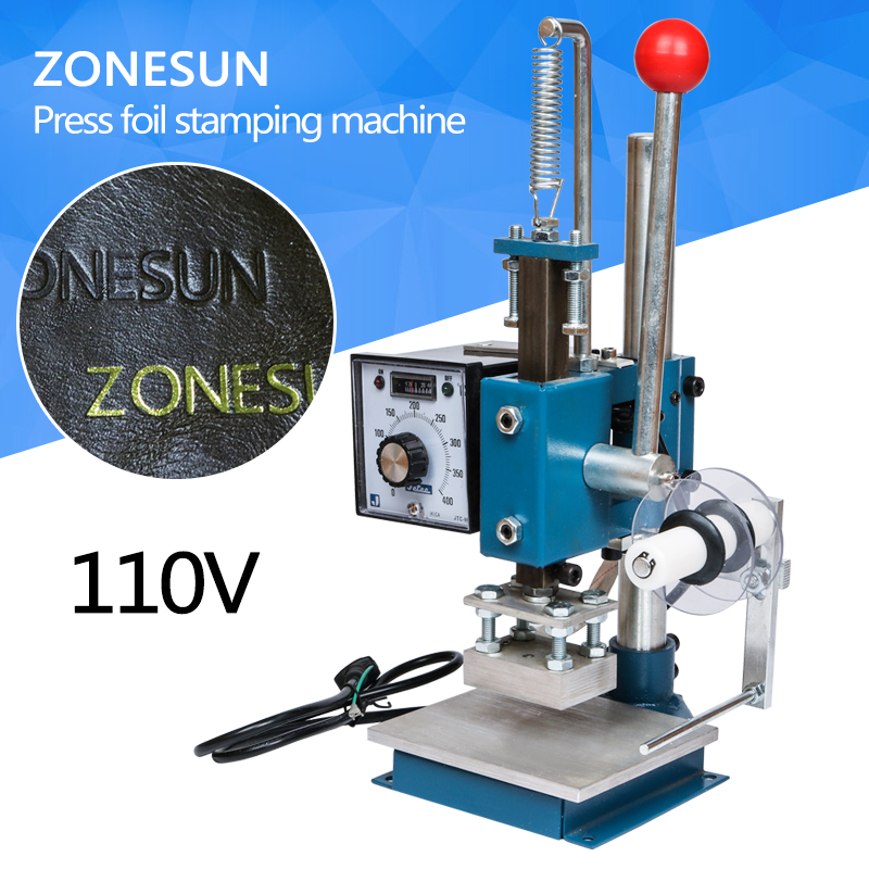 110V MANUAL HOT PRESS FOIL STAMPING MACHINE STAMP MACHINE FOR PVC, WOOD, PAPER, LEATHER HOT FOIL STAMPER PRINTEING MACHINE original sanyo 9g1212e1d011 12cm 12038 12v 0 61a 3 wires alarm signal cooling fan