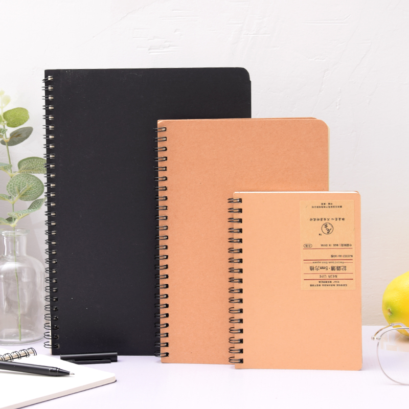 Creative retro diary book A5 kraft paper binder loose-leaf notebook B5 sketchbook A6 portable coil book mirui small fresh loose leaf notebook korea simple b5 coil detachable refill student notebook a5 book a4