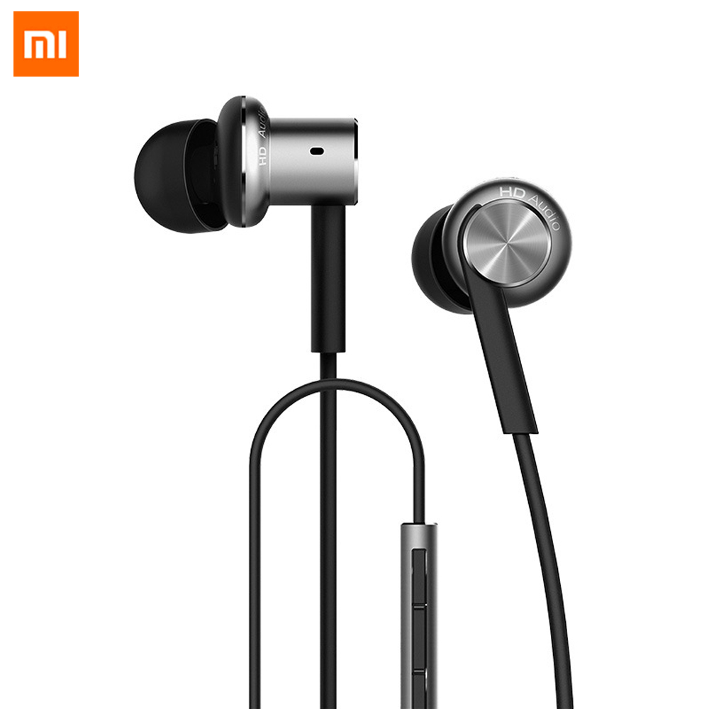 Original Xiaomi Hybrid Earphone 1DD + 1BA HIFI Metal In Ear Earphone DIY Earphone For Xiaomi Mobile Phone MP3 Player original xiaomi xiomi mi hybrid earphone 1more design in ear multi unit piston headset hifi for smart mobile phone fon de ouvido