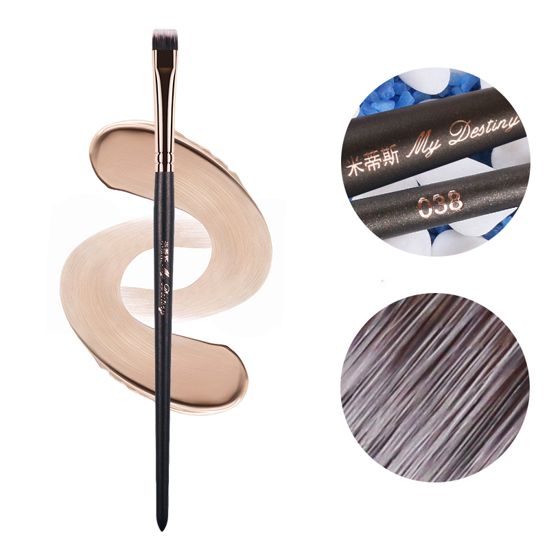 Meu destino detalhe escova de olho mistura eyeshadow eyeliner fundação pincéis de maquiagem ferramentas pincéis de maquiagem profissional 038