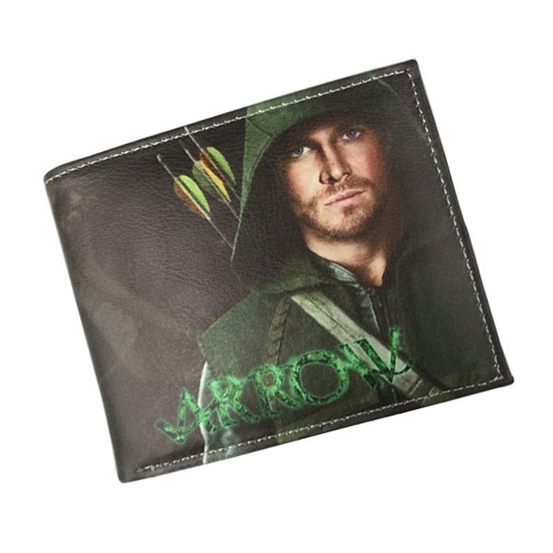 DC Marvel Wallet Super Hero Series Peripheral Justice League Green Arrow Man Arrow's Wallets Leather Short Purse Money Bags comics dc marvel wallets green arrow leather purse women money bags gift wallet carteira feminina bolsos mujer de marca famosa