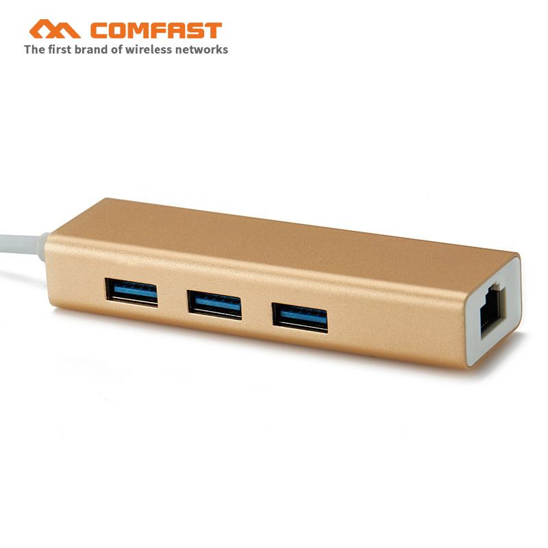 USB Ethernet USB 3.0 2.0 to RJ45 HUB for Type-c laptop /Windows / MAC book / Linux Ethernet gigabit Adapter Network Card USB Lan image