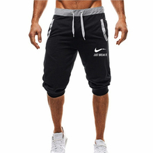 2019 Mens Casual Shorts Summer Black Short Shorts For Men Fashion Male 100% cotton gym bodybuilding Shorts Boys недорого