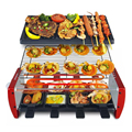 Бездымный Электрический гриль для барбекю 220 В многофункциональная электрическая сковорода-гриль в Корейском стиле антипригарная машина д...