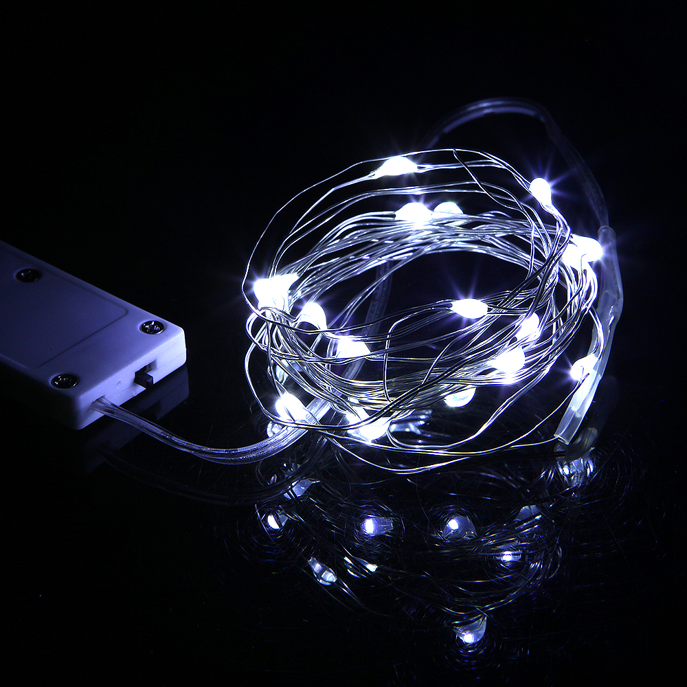 Koppar Led Fairy Lights 2M 20LEDS CR2032 Knapp Batteridriven LED - Festlig belysning - Foto 4