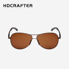 2017 HDCRAFTER Fashion Men Polarized Sunglasses Classic Men Retro Aluminum Alloy Frame Brand Designer Sun glasses oculos de sol