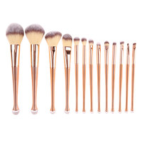 13pcs Make Up Brushes Foundation Blending Powder Eyeshadow Contour Concealer Blush Brush Facial Makeup Brushes