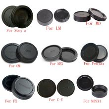 10 قطعة/الوحدة غطاء كاميرا الجسم + غطاء العدسة الخلفية لسوني ألفا NEX مينولتا MD Leica ل Pentax أوليمبوس مايكرو M4/3 كاميرا فوجي C Y M39