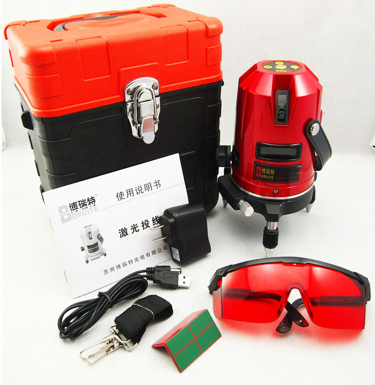 цена Free Shipping Hot sale 5 lines 3points Cross line laser,laser level,Professional laser line level rotary laser level EK-452DP