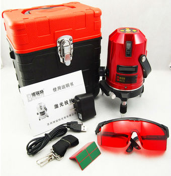 Free Shipping Hot sale 5 lines 3points Cross line laser,laser level,Professional laser line level rotary laser level EK-452DP