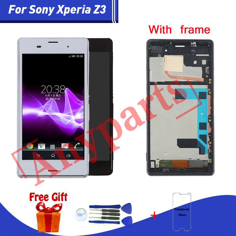 For SONY Xperia Z3 LCD Display+Touch Screen For Sony Xperia Z3 D6603 D6633 D6653 L55T lcd Display Touch Screen Replacment