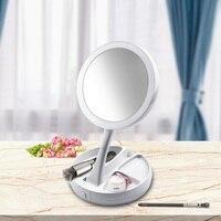 Портативный светодиодный зеркало для макияжа с 16 Светодиодный s волшебное зеркало для макияжа косметическое зеркало косметическое карманн...