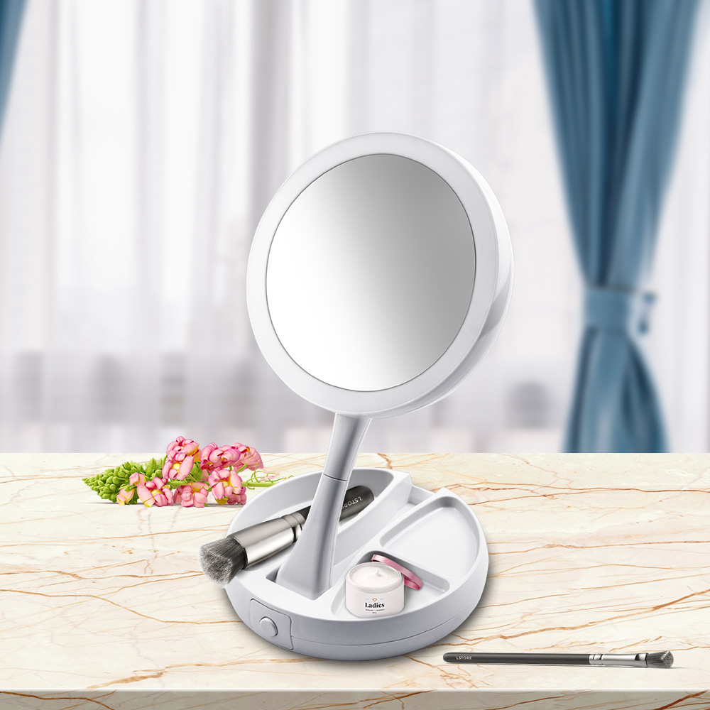 Aliexpress Com Buy Portable Led Lighted Makeup Mirror