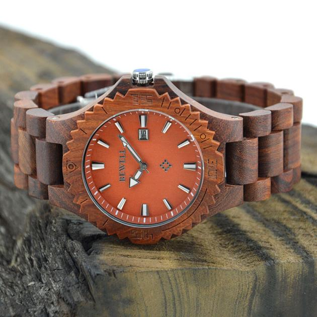 relogio masculino erkek kol saati reloj mujer  Men's Natural Wooden Wristwatch Wood Watch Quartz with Date + Box   Oct27 от Aliexpress INT