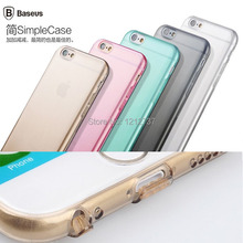 0 7mm Ultra thin Original BASEUS Simple Series Soft TPU Gel Back Phone Case Cover For