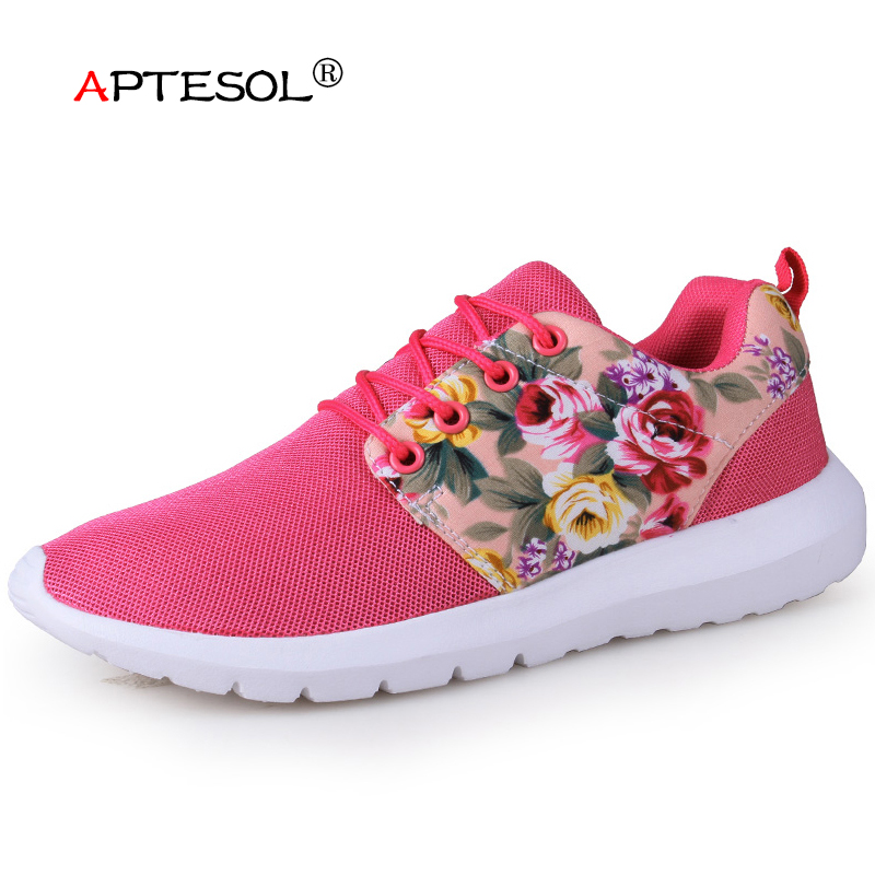 APTESOL Women Outdoor Air Mesh Soft Sport Sneakers Running Shoes For Women Breathable Lightweight Athletic Walking Jogging Shoes