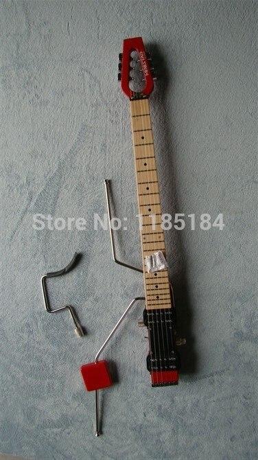 Livraison gratuite MiniStar Pro Modèle Lestar Voyage Guitare Électrique Construit en Casque Amp ROUGE