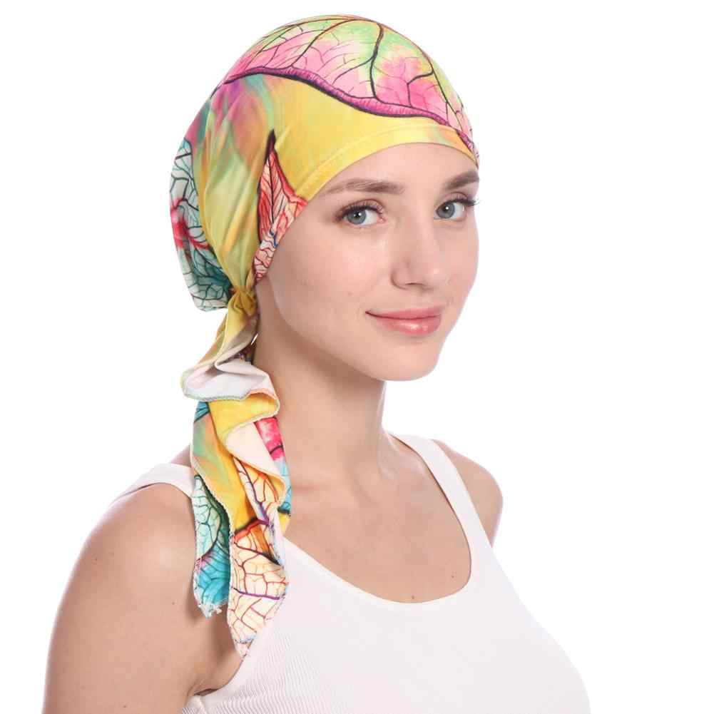 028e335eca87b ... Women s Elegant Headscarf Chemo Cap Beanie Women Muslim Hair Loss Head  Scarf Cancer Hat Turban Head ...