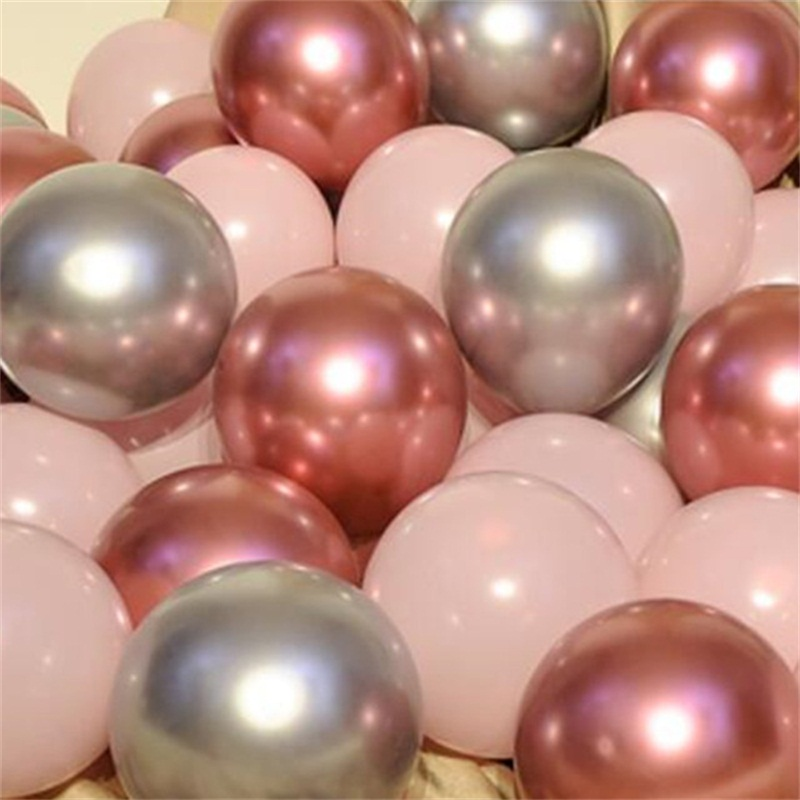 12pcs/lot Gold Silver Chrome Metallic Balloons For Wedding Bridal Shower Theme 6