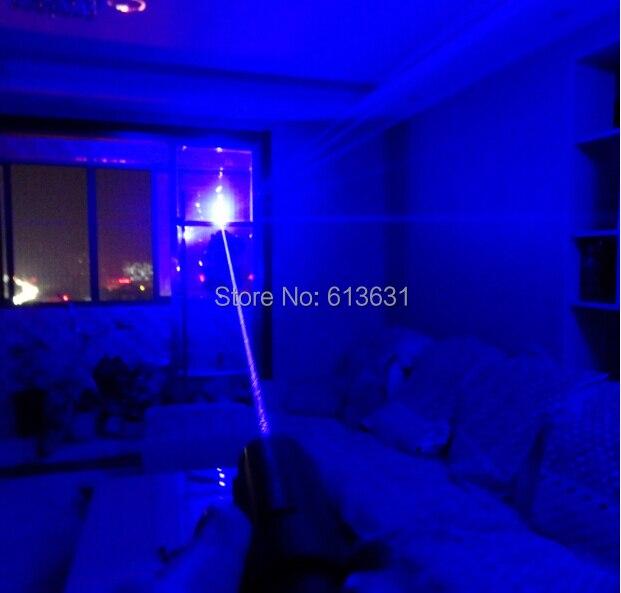 Super Puissant! Focalisable Haute Puissance Pointeur Laser Bleu 100000 m 450nm Allumette/Papier/Bois Sec/Candlurn Carte